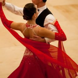 You can tell an accomplished ballroom dancers by their beautiful upper carriage.